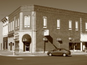 President Prints Prints - Abilene Kansas - 2nd and Broadway Print by Frank Romeo