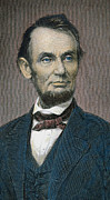 Presidents Drawings Posters - Abraham Lincoln Poster by American School