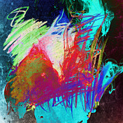 Digital Collage Posters - Abstract Color Poster by Gary Grayson