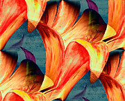 Mark Moore Metal Prints - Abstract Floral Metal Print by Mark Moore