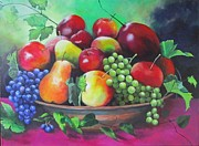 Vine Leaves Originals - Abundance by Mary James