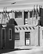 Southwest Digital Art Prints - Acoma Pueblo Adobe Homes Print by Mike McGlothlen