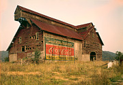 Photography Digital Art Prints - Advertising Barn Print by Gary Grayson