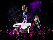 Steven Tyler Photos - Aerosmith Steven Tyler Joe Perry In Concert by Jani Bryson