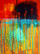 Splat Paintings - After Midnight by Nancy Merkle