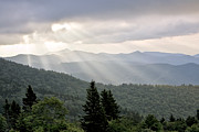 God Beams Posters - Afternoon on the Mountain Poster by Rob Travis