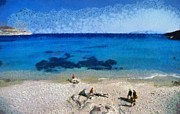 Sunny Art - Agrari beach in Mykonos island by George Atsametakis