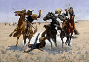 Famous Artists - Aiding a Comrade by Frederic Remington