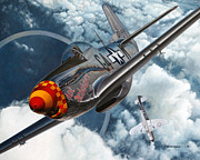 Mustang Aviation Art Paintings - Aint Misbehavin by Jason Breidenbach