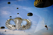 Parachute Jump Prints - Airborne Print by JC Findley