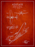 Airplane Patent Drawing From 1943 Print by Aged Pixel