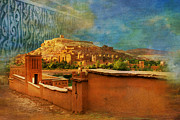 National Park Painting Metal Prints - Ait Benhaddou  Metal Print by Catf