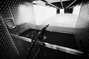 Practicing Framed Prints - AK47 assault rifle magazine and ammunition at a gun range in las vegas nevada usa Framed Print by Joe Fox