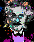 Allen Glass Framed Prints - Albert Einstein Framed Print by Allen Glass