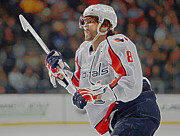 Ovechkin Framed Prints - Alex Ovechkin Framed Print by Don Olea
