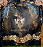 Metallica Mixed Media - Alice cooper airbrushed tshirt by danielle Vergne by Danielle Vergne