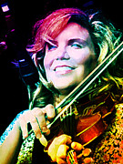 Dobro Digital Art Posters - Alison Krauss Poster by Julie Turner