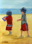 Little Boys Acrylic Prints - All American Beach Boys Acrylic Print by Vicky Watkins