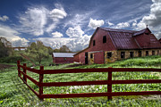 Dairy Barns Posters - All American Poster by Debra and Dave Vanderlaan
