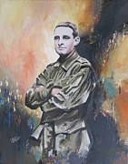 Wwi Painting Prints - All our Grandfathers Print by Leonie Bell
