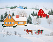 Sleigh Ride Posters - Almost Home Poster by Wilfrido Limvalencia