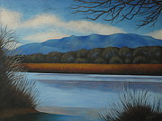 Albuquerque Paintings - Along the Rio Grande by Gayle Faucette Wisbon
