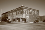 Blue Bricks Prints - Alpena Michigan - Thunder Bay Theatre Print by Frank Romeo