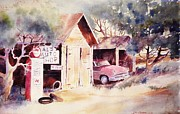 John Svenson Framed Prints - Als Auto Shop Framed Print by John  Svenson