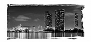 American Airlines Arena Prints - American Airlines Arena and condominiums Print by Carsten Reisinger