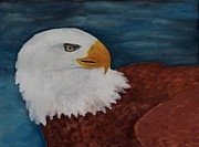 American Eagle Paintings - American Eagle by Julio Haro