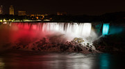Long Framed Prints - American Falls Framed Print by Adam Romanowicz