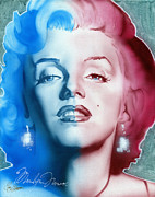 Marylin Paintings - American Girl by Luis  Navarro