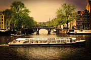Copyspace Art - Amsterdam Romantic bridge over canal by Michal Bednarek
