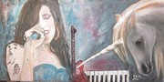 Songwriter Painting Originals - Amy Winehouse  by Sam Shaker