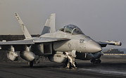 George Bush Prints - An Ea-18g Growler Aboard Uss George Print by Giovanni Colla