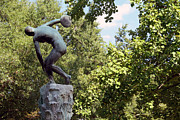Greek Sculpture Prints - An Imitation Of Discobolus Print by Cora Wandel