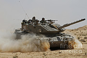 Battletank Posters - An Israel Defense Force Magach 7 Main Poster by Ofer Zidon