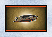 Hockey Art - Anaheim Ducks by Joe Hamilton