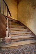Wooden Stairs Framed Prints - Ancient Staircase Framed Print by Brian Jannsen
