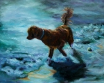 Retrievers Paintings - And Where by Diane Kraudelt