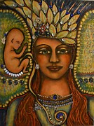 Visionary Artist Painting Posters - Angel Baby Poster by Marie Howell Gallery
