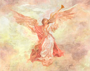 Angel Gabriel Prints - Angel Heralds the Dawn Print by John Alan Warford
