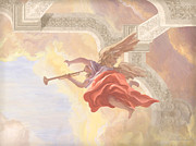Guardian Angel Painting Posters - Angel In Flight Poster by John Alan  Warford