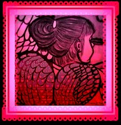 Angel Leah 2 Print by Maryann  DAmico