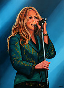 Rock Star Art Paintings - Anouk by Paul  Meijering