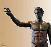 Greek Sculpture Paintings - Antikythera Statue by Ellen Henneke
