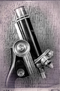 Microscope Posters - Antique Microscope Poster by Garry McMichael