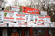 Hot Dogs Art - Ardy and Eds Drive-In by Frank Romeo