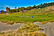 Pga Photo Framed Prints - #2 at Chambers Bay Golf Course Framed Print by David Patterson