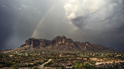 The Superstitions Photos - At the End of the Rainbow  by Saija  Lehtonen